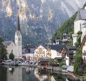 Hallstatt stad i Österrike Royaltyfri Foto