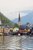 Hallstatt  at sunset Royalty Free Stock Photo