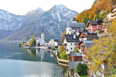 Hallstatt town in Autumn Royalty Free Stock Images