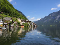 Hallstatt town in summer, Alps, Austria Royalty Free Stock Photo