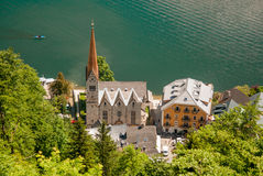 Hallstatt. View from hill Stock Image