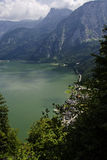 Hallstatt view from the top of the mountain Stock Photography