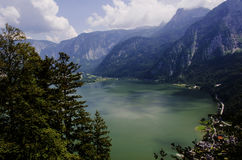 Hallstatt view from the top of the mountain Royalty Free Stock Image