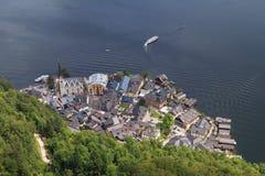 Hallstatt village in Alps Stock Image