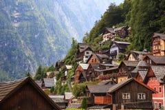 Hallstatt village in Alps, Austria Stock Image