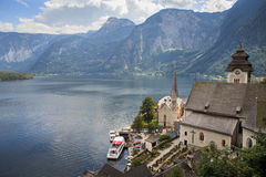 Hallstatt village in Alps, Austria Stock Image