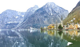 Hallstatt village in Alps, Austria Stock Photo