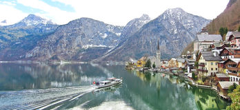 Hallstatt village in Alps, Austria Stock Photos