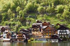 Hallstatt. Village in Austria shot from lake Stock Photo