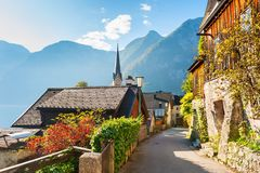 Hallstatt village in Austrian Alps Royalty Free Stock Photo