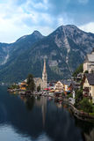 Hallstatt village at dusk Royalty Free Stock Photo