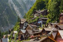 Hallstatt village at dusk Royalty Free Stock Images