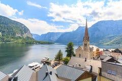 Hallstatt village on Hallstatter See in Austrian alps Stock Photos