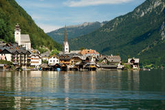 Hallstatt, a village in Salzkammergut, Austria Royalty Free Stock Images