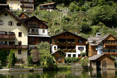 Hallstatt, a village in Salzkammergut, Austria Stock Photo
