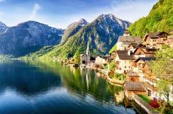 Hallstatt, villaggio delle alpi dell'Austria Fotografia Stock Libera da Diritti