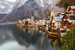 Hallstatt at winter morning Stock Image