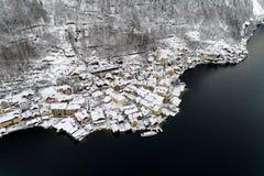 Hallstatt in winter season Stock Image