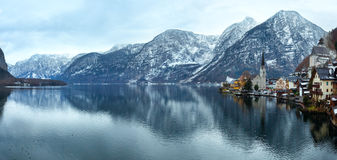 Hallstatt winter view (Austria) Royalty Free Stock Photo