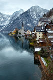 Hallstatt winter view (Austria) Royalty Free Stock Photos