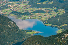 Hallstatter lake birds eye view, Salzkammergut Royalty Free Stock Photos