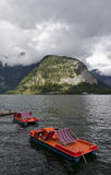 Hallstatter see boats Stock Images