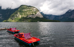 Hallstatter see boats Stock Image