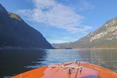 Hallstatter voient le bateau Photo stock