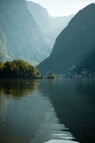 Hallstattersee in the morning Royalty Free Stock Photos
