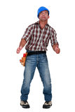 Hallucinating tradesman Stock Photo
