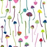 Hallucinogenic mushrooms seamless pattern Royalty Free Stock Photos