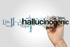 Hallucinogenic word cloud Stock Image