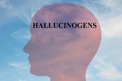 HALLUCINOGENS - neural concept stock illustration
