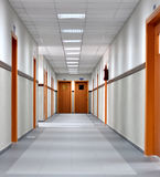 Hallway 0027. A hallway in an institution Stock Photo