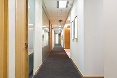 Hallway. To the business office room Royalty Free Stock Photo