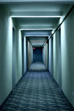Hallway. In the tower full of blue color Royalty Free Stock Photography