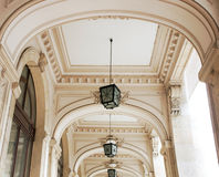 Hallway with arcades. Interior architectural details Stock Images