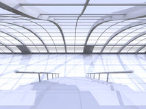 Hallway Architecture. 3D rendered Illustration. Hallway Architecture Royalty Free Stock Photography