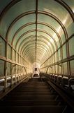 Hallway with brigh light. Angle shot Royalty Free Stock Photos