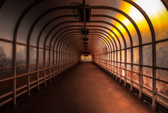 Hallway with bright light. Angle shot Royalty Free Stock Photography
