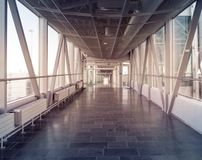 Hallway in Building with glass - flare effect Royalty Free Stock Photography