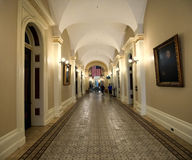 Hallway in the California State Capitol Stock Photos