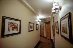 Hallway. Camas Hotel in Camas, Washington (just outside Portland, OR royalty free stock images