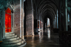 Hallway in cathedral of Augsburg Stock Image