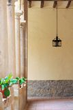 Hallway with columns Royalty Free Stock Photography