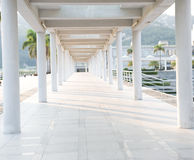 Hallway and columns Royalty Free Stock Images