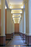 Hallway and Columns of Historic Building Royalty Free Stock Photo