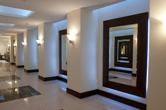 Hallway and corridor. In the luxury arabic hotel Royalty Free Stock Photography