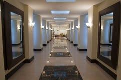 Hallway and corridor Stock Images