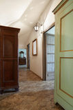 Hallway, corridor room in old house Royalty Free Stock Photography